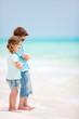 Kids at tropical beach