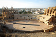 Amphitheatre with El Djem city skyline