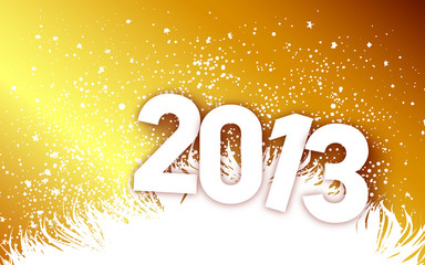 New Year 2013 Gold And White