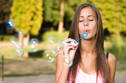 Dreamy bubble girl.