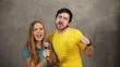 Couple singing song – karaoke team