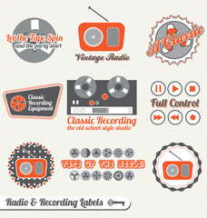 Vector Set: Radio and Recording Labels and Stickers