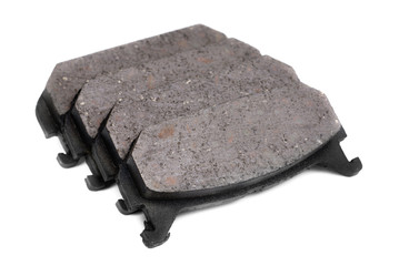 four brake pads, isolatet on white