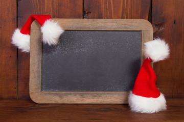 Weihnachtliche alte Schiefertafel