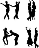 contemporary dancers in silhouette