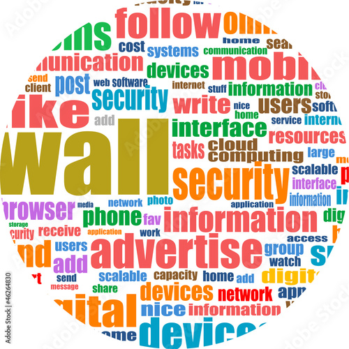 Social media abstract background with networking words