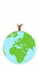 Baum auf Welt