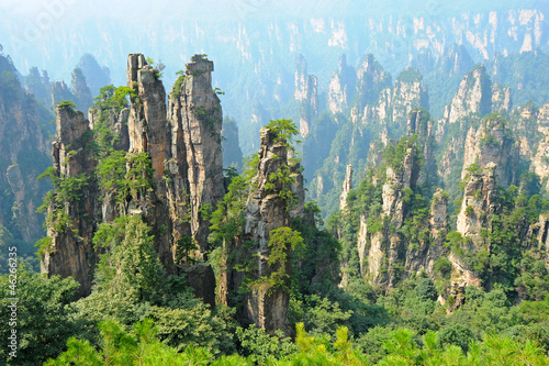 Poster Zhangjiajie natural scenery in China