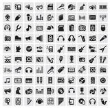 Fototapety music icons