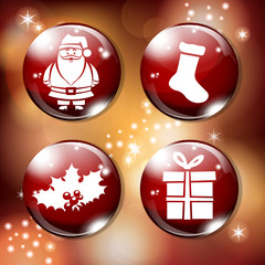 red xmas buttons