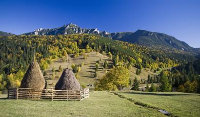autumn rural mountain landscape in Romania