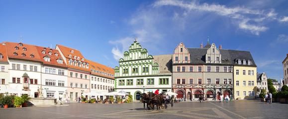 Weimar Markt mit Kutsche