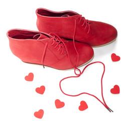 chaussures féminines coeur amoureux cadeau