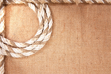 frame of the rope and burlap
