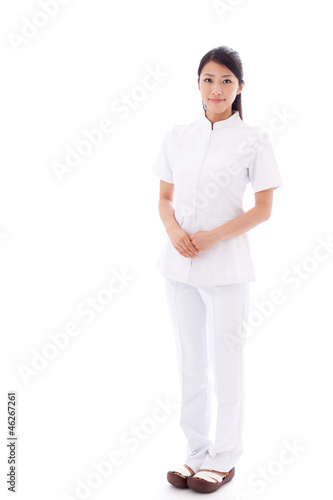 a your asian doctor on white background