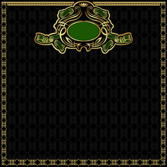 royal green gold background