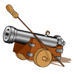 pirate gun cannon icon isolated