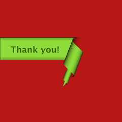 Curl-Schild grün-rot THANK YOU!