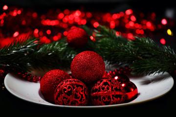 weihnachtsteller deko