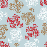 Seamless pattern with brunches. Vector background of nature.
