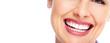 Leinwanddruck Bild - Beautiful woman smile.
