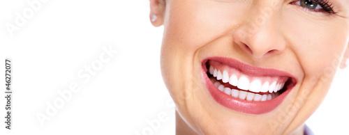 Leinwanddruck Bild Beautiful woman smile.