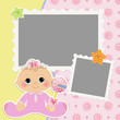 Cute template for baby's card