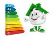 Kleines 3D Haus Grün - Super Energieeffizienz