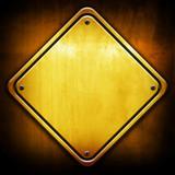 golden rhombus plate poster