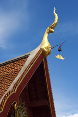 Beautiful traditional Roof line Thailand Temple.