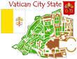 Vatican City national emblem map symbol motto