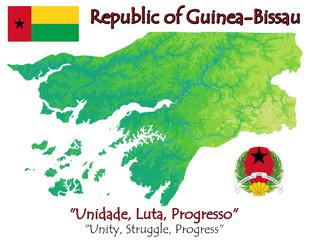 Guinea Bissau Africa national emblem map symbol motto