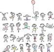 Постер, плакат: Симпатичные счастливых детей мультфильм