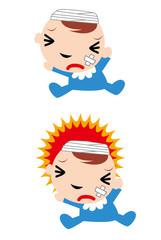 怪我,頭,頭痛,痛み,病気,病院,重傷