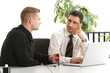 Geschäftliche Besprechung am Arbeitsplatz