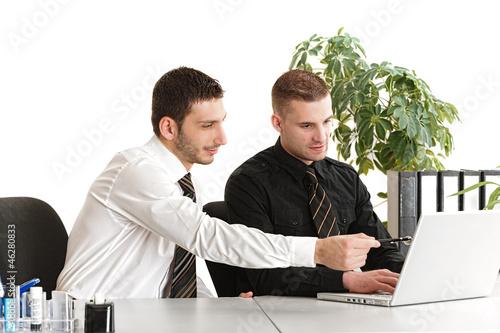 Besprechung am Arbeitsplatz