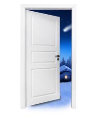 Tür in den Winterurlaub