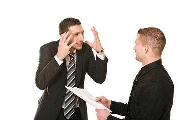 Gespräch am Arbeitsplatz