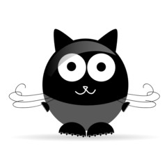 sweet and cute cat vector illustration