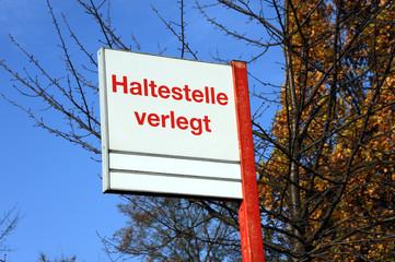 Haltestelle verlegt, Bus, Öffentlicher Personennahverkehr, ÖPNV