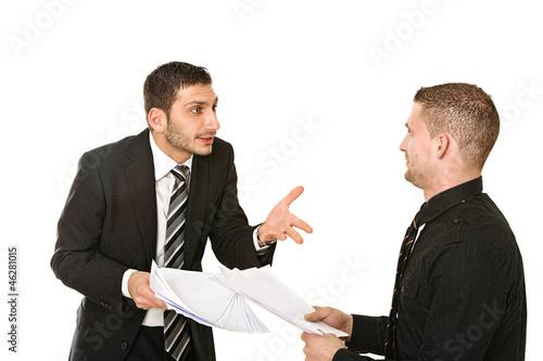 Verhandlung unter Arbeitskollegen