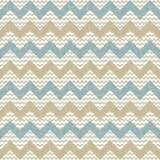 Seamless chevron pattern on linen texture poster