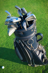 Golf clubs in golfbag