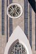 Leipzig Augustusplatz mit Unikirche Universitätsgebäude Detail