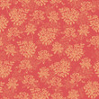 Flower pattern red