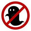 No ghost allowed sign, create by vector