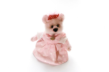 Toy Bear in a Pink Dress