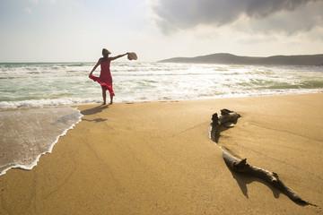 Happy beach freedom