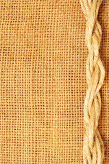frame of ropes  on sack