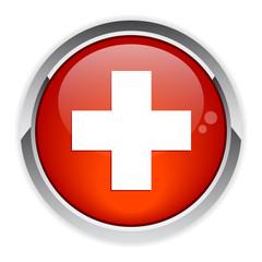 bouton internet health icon red